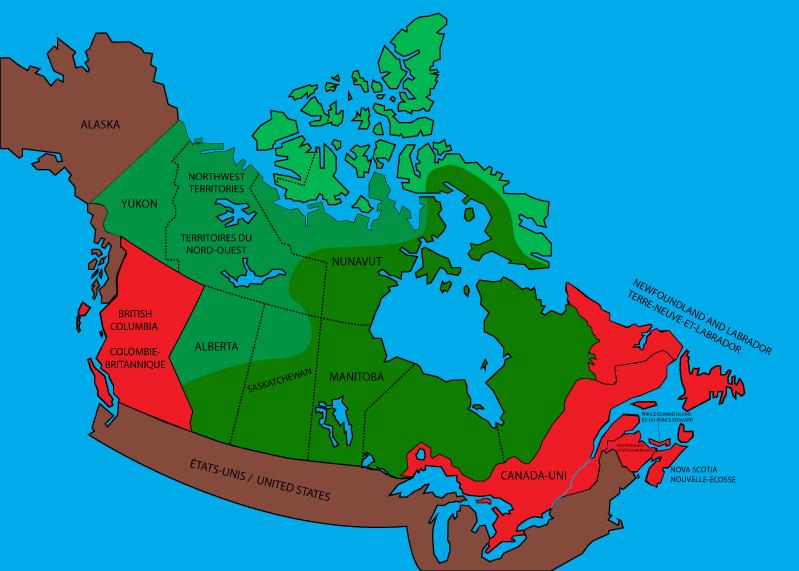 Carte Canada Uni.Carte Du Canada Rouge 1867 1873 Art By Patrick And Design The