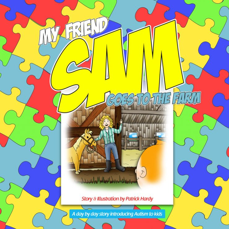 My friend Sam book series project | Art by Patrick and